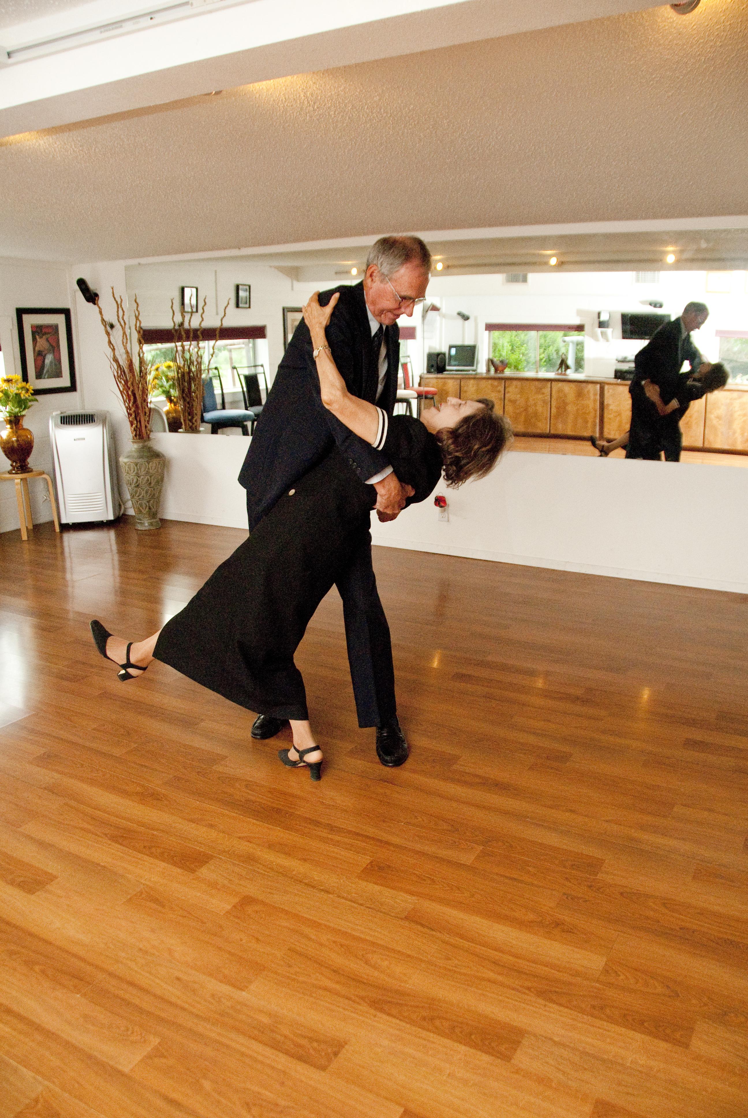 Charles & Hortencia Dancing in Dance Studio