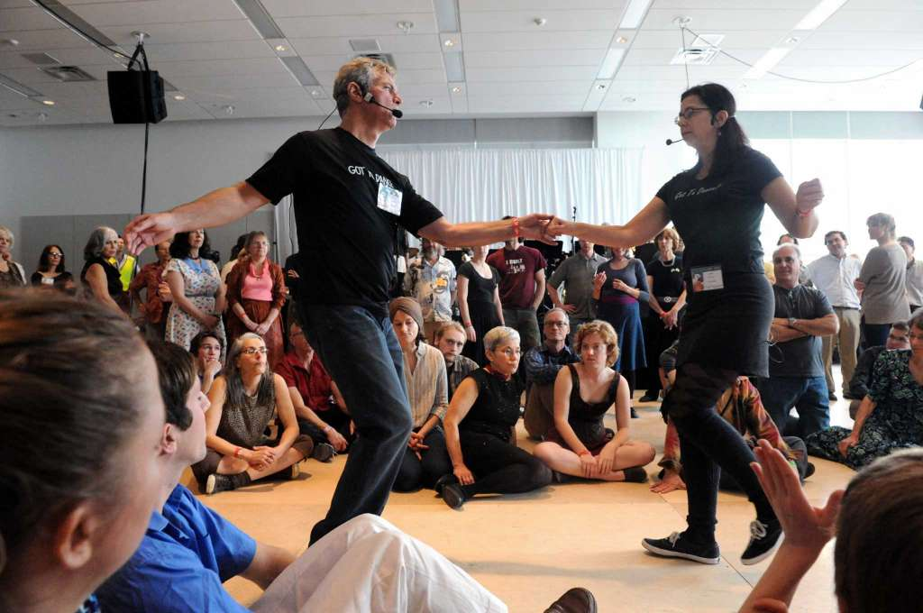 Linda and Chester Freeman teaching at the Dance Flurry Festival in Sarasota Springs, NY