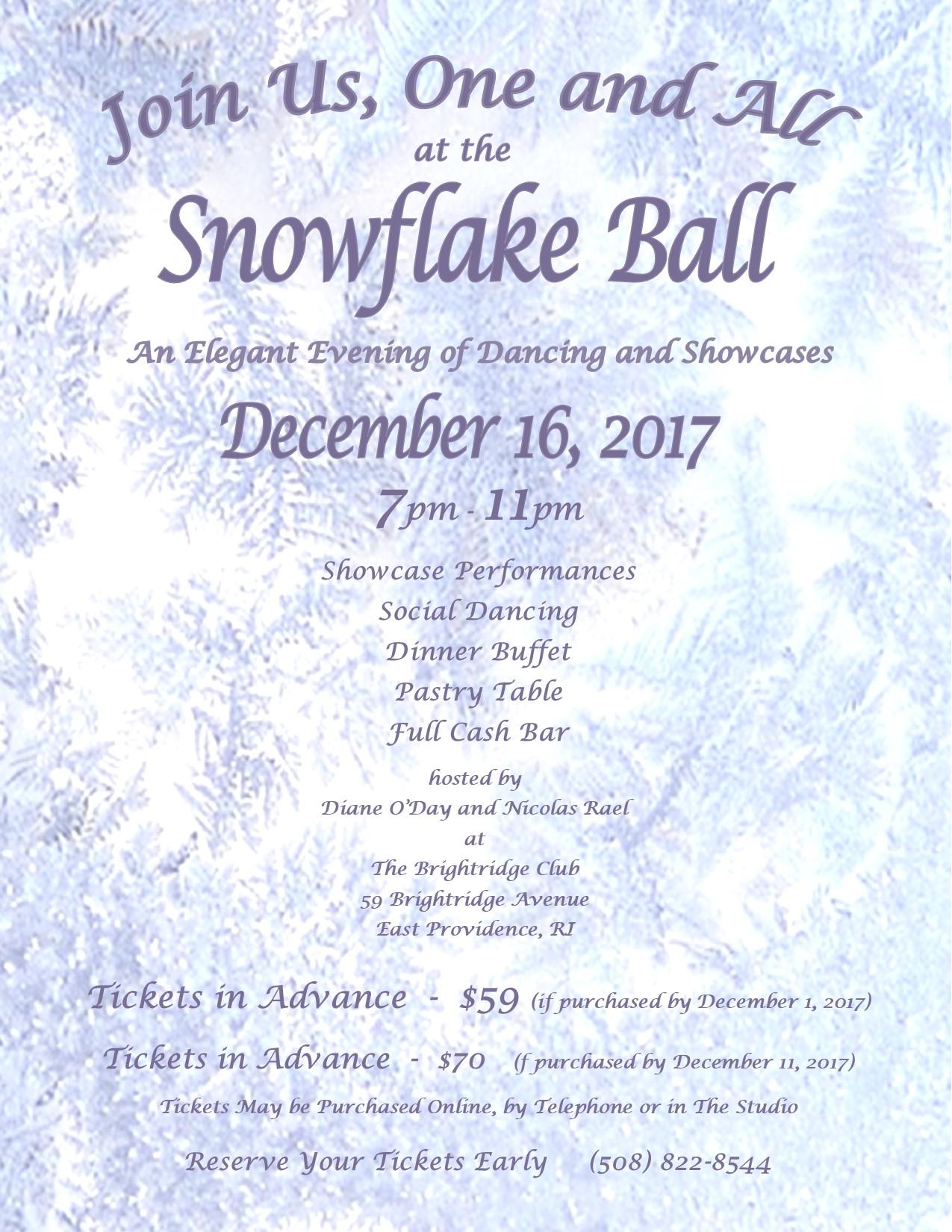 SNOWFLAKE BALL 2017 - Flyer