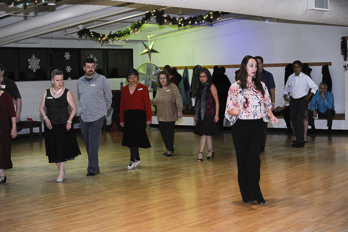 Cassaundra Spargur, independent dance professional, teaches Cha Cha Cha