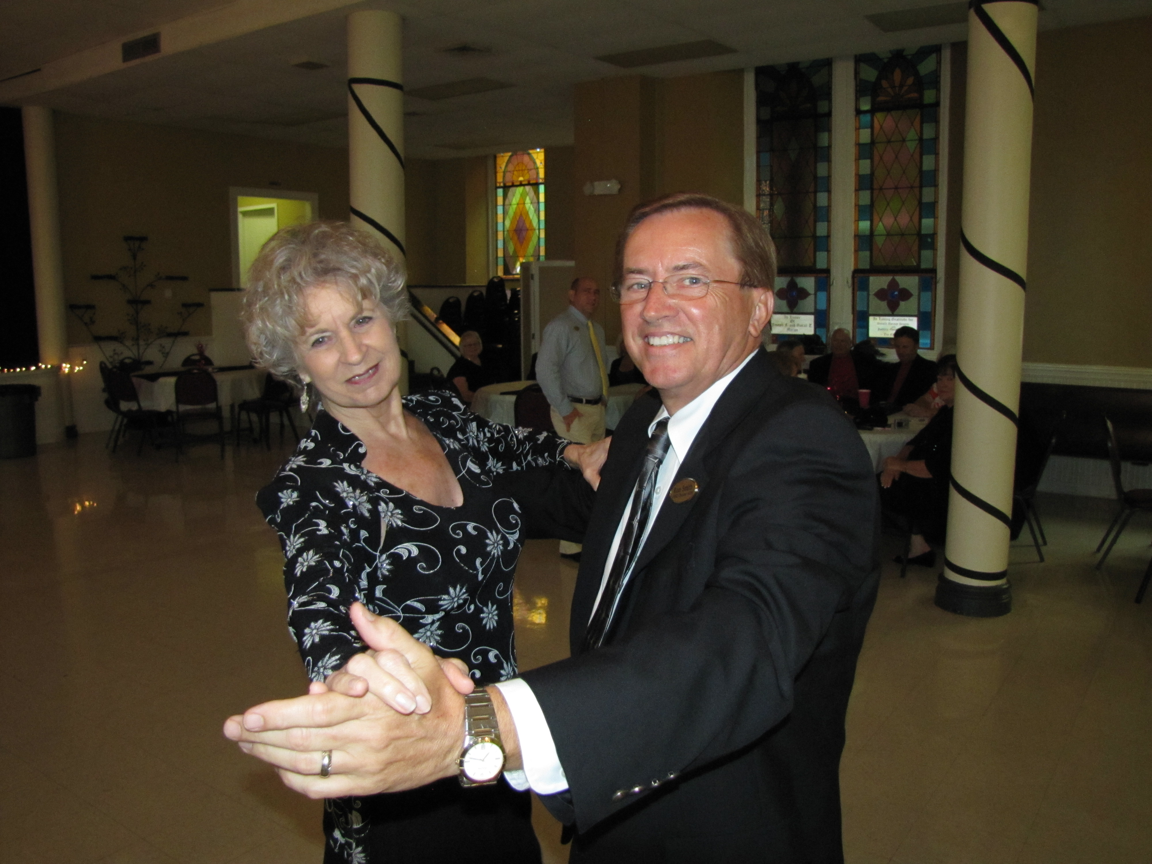 Member Instructor Dianne Kent and Ron Smith's Opening Waltz