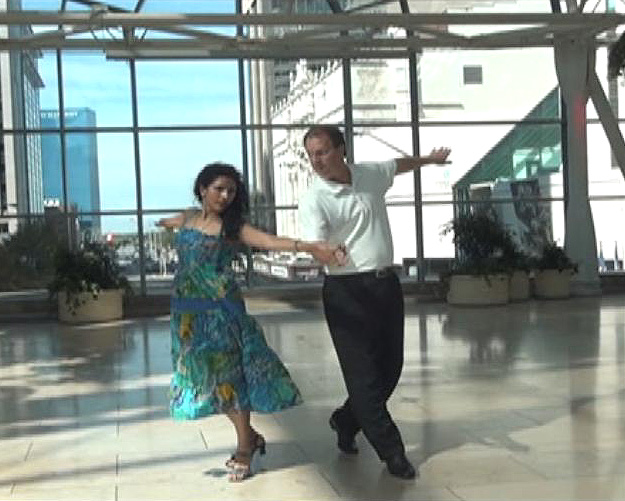 Jeff Burgardt and Uma Chaluvadi Cha Cha