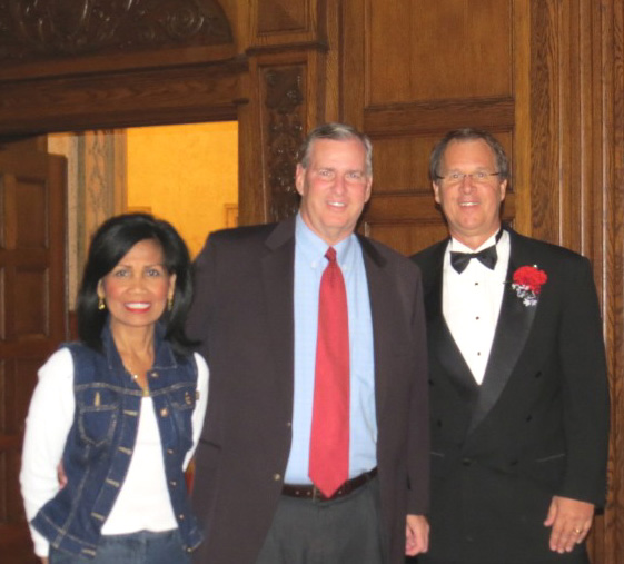 Mayor and Mrs. Ballard with Chapter President Jeff Burgardt
