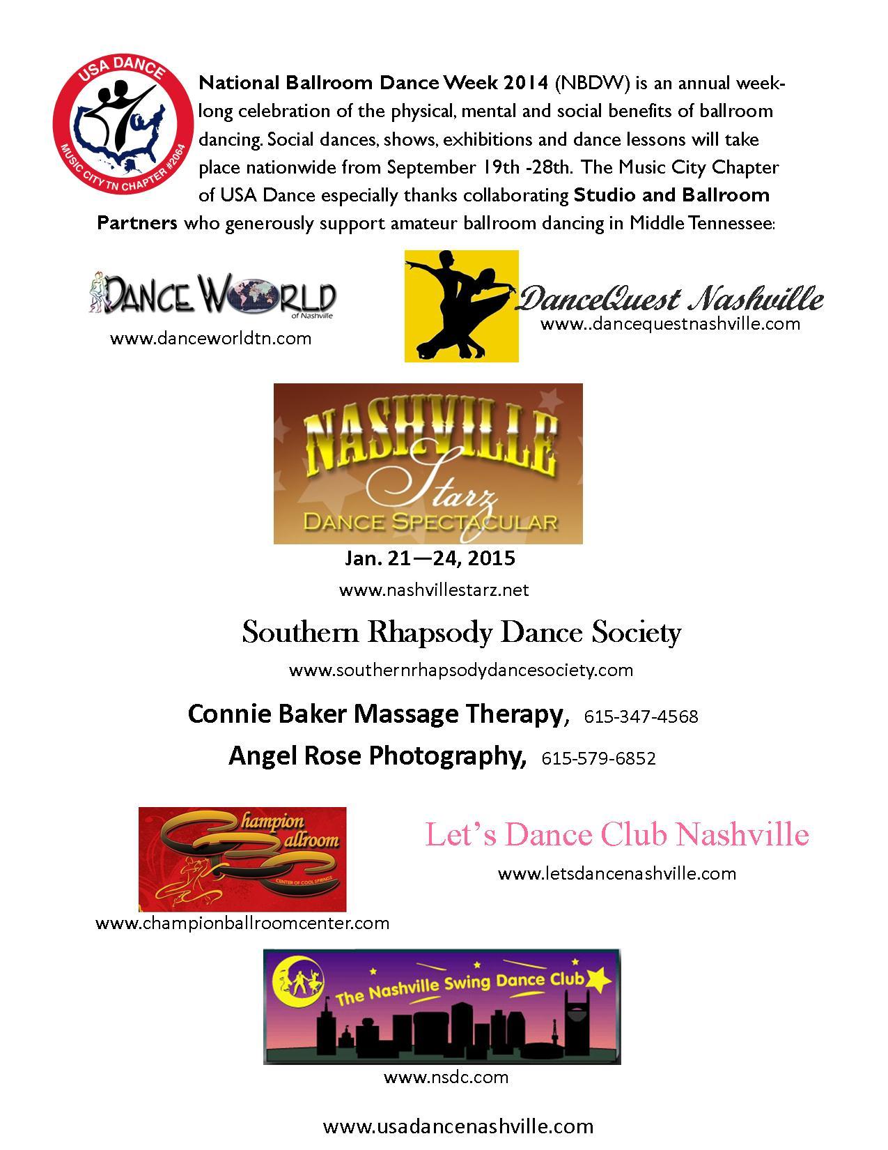 National Ballroom Dance Week Partners 2014