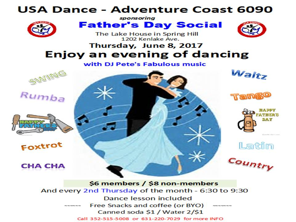 June 8, 2017 ~ Father's Day Dance