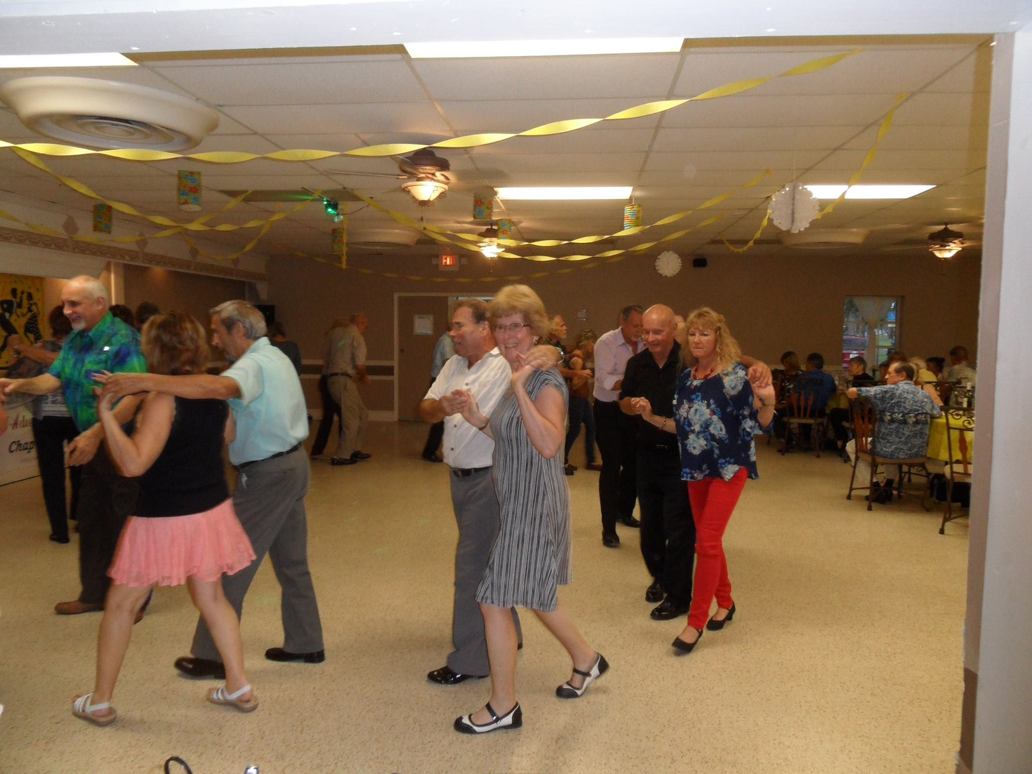 Couples country dance