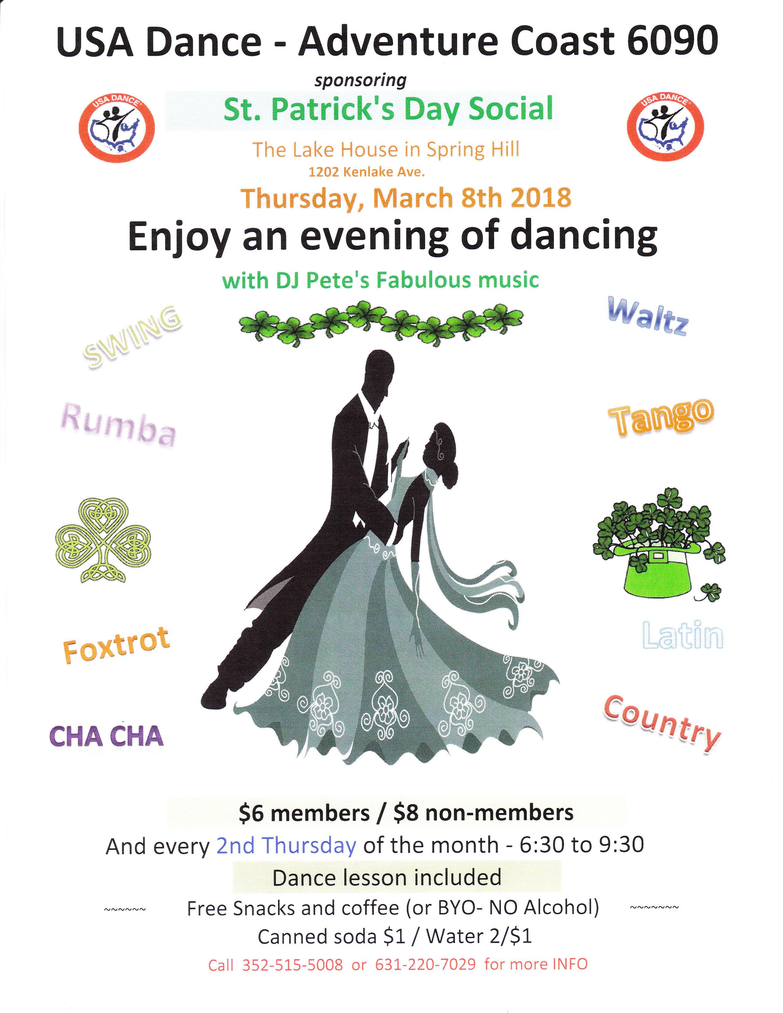 St. Patricks Dance Social