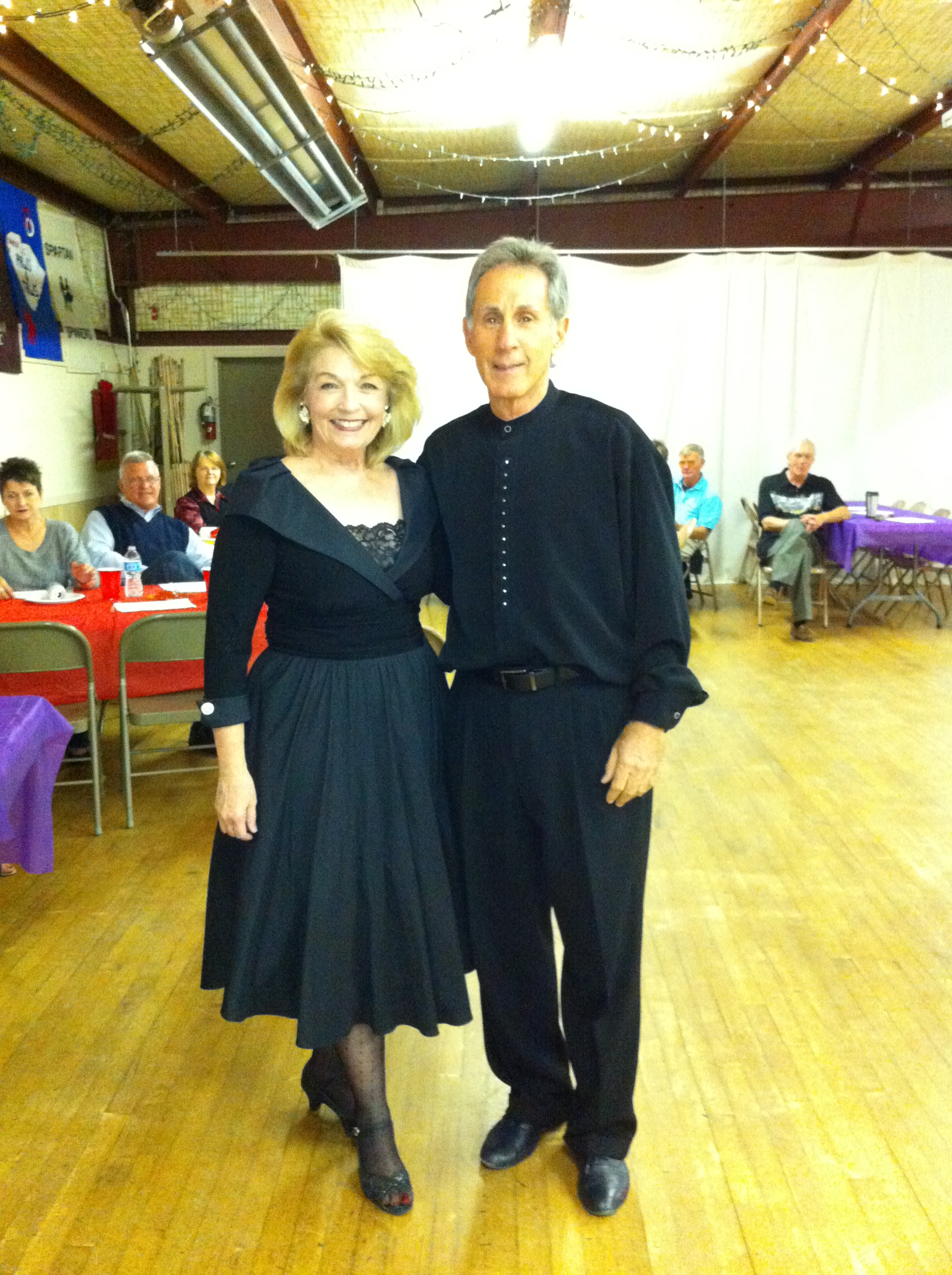 Raoul Weinstein and Valerie Miller after showcase