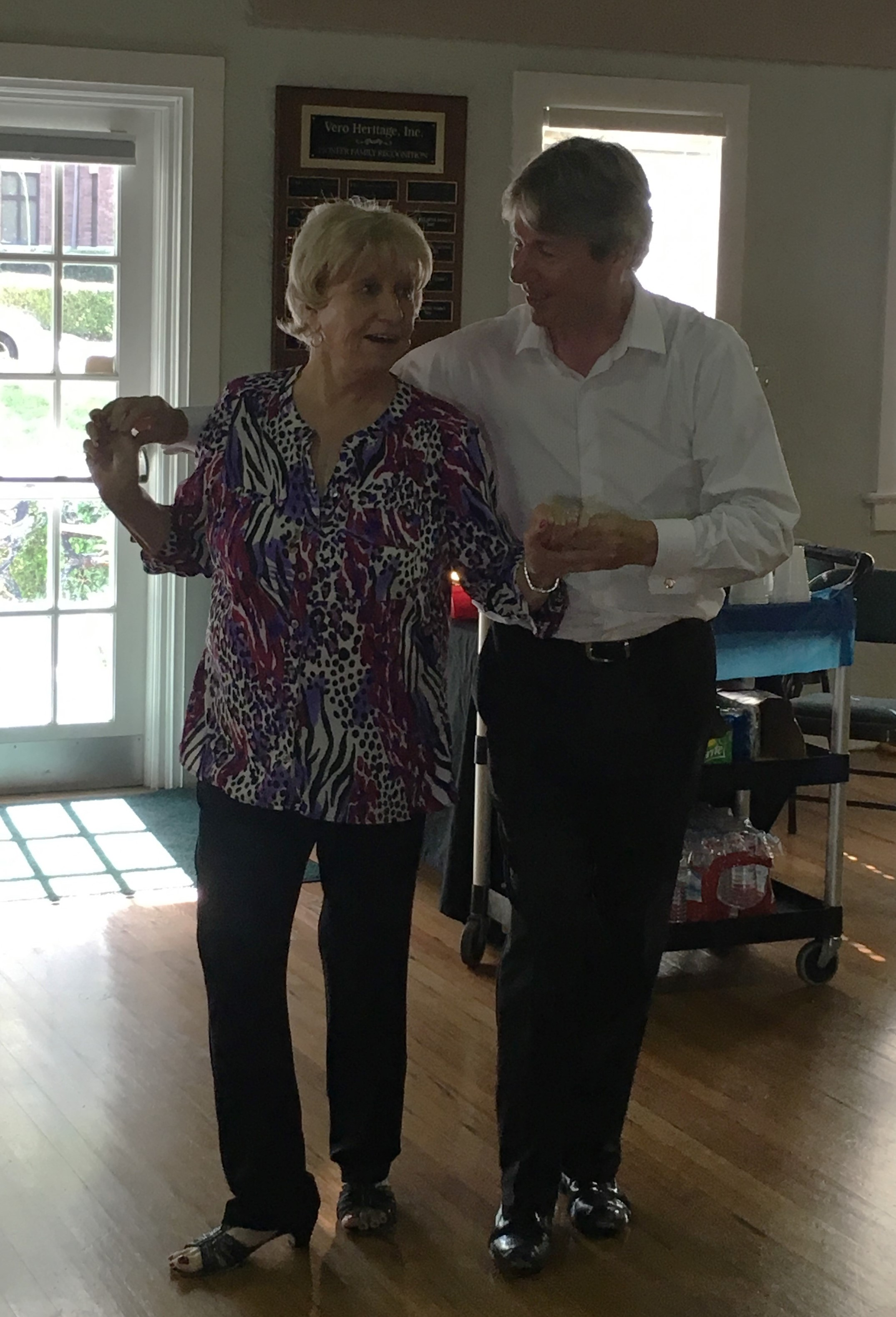 Marge Callahan and  instructor Phil Gaskin from Beachside Dance Club